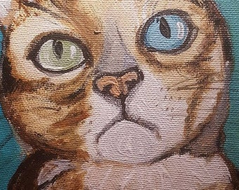 a colorful portrait of your pet - 8x10 in. acrylic paint