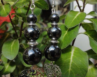 Madez - Earrings pierre hematite and Silver 925
