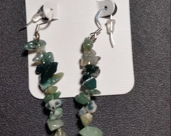 Green Aventurine Natural Gemstone Drop Earrings
