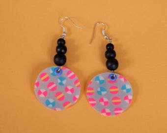 Earring fabric and beads