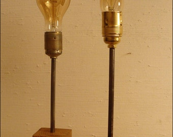 Lamp woods and metal