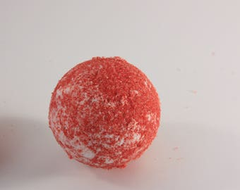 MOYENNE Bombe de Bain Cerise / Cherry AVERAGE Bath Bomb  / Bombe Effervescente / Boule Effervescente