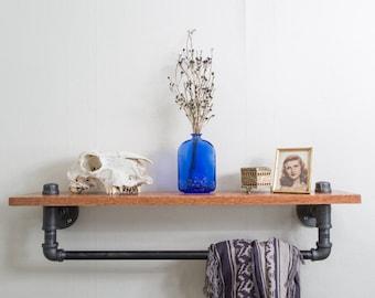 Wood & Pipe Shelf Rack