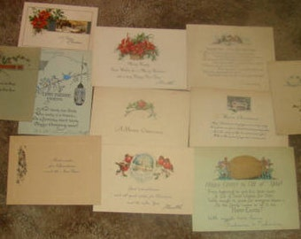 11 Pieces of Victorian Scrap (Holiday Cards)
