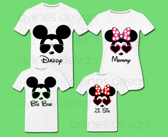 Family Shirt Design Mickey Mouse