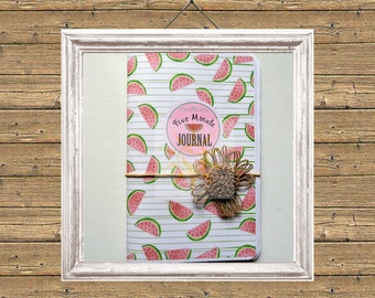 Five Minutes to Reflect Your Day, Printable Journal, Watermelon Journal, Five Minute Journal, One Line Journal, Daily Journal, Reflection