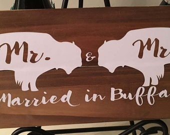 Married in Buffalo - Buffalo, NY Pallet Sign