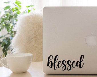 Blessed decal, #Blessed, Blessed Sticker, coffee cup decal, car decal, Yeti decal, laptop decal, ipad decal