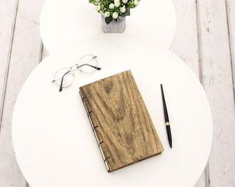 Wooden Notebook, Mens Planner, Rustic Notebook in Wooden Cover, Rustic Journal, Engraved Notebook, Wooden Sketchbook, Wood Journal, Diy Gift