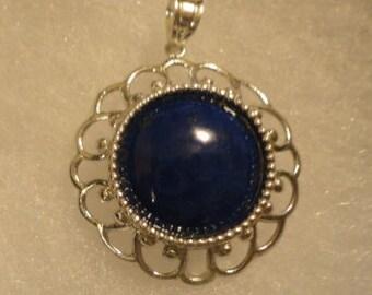 Lapis Lazuli in Sterling Silver Pendant