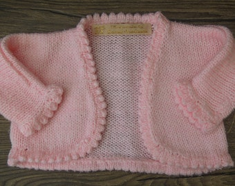 LF Baby Pink Knitted Bolero 0-3 months