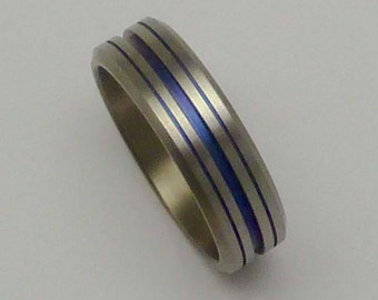 Titanium anodized ring.