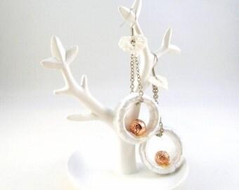 Earrings White Romance