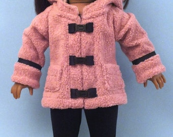 Fuzzy Pink Oxford Square Coat