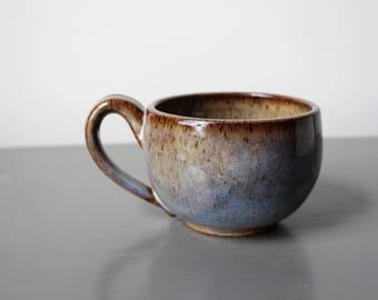 Ceramic Latte Mug Yellow Blue