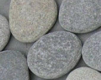 10 Guest Book Stones, Ten flat Beach Stones, Wedding wishing Stones, Wedding Favors, Stones, Beach Stones, Rocks, Wedding, Memorial Rocks