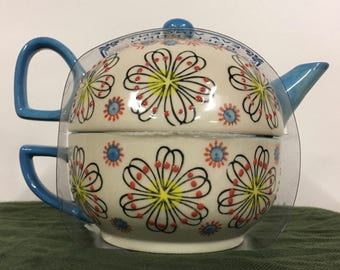 Japanese Style Tea Pot & Cup