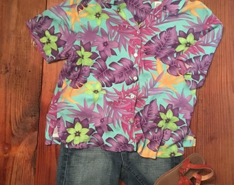 women's vintage hawaiian shirt