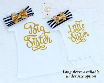 Big Sister Outfit, Big Sister Little Sister Outfits, Matching Sister Outfits, Little Sister Outfit, Big Sister Shirt, Sibling Outfits, FS31