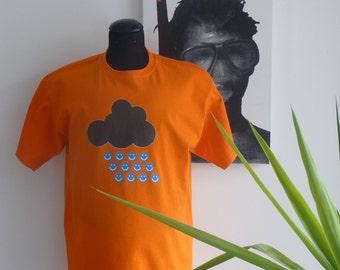 Orange T-shirt - Smile drops - size M