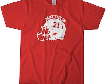 Football Shirt | Kids Football Tops | Custom Name | Kids Tshirt | Name Shirt | Kids Graphic Shirt | Kids Tees | Sports Tops | T-shirts