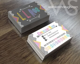 Info + Punch + Logo Card Design - Information Consultant Unique Info discount custom personalized