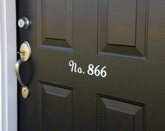 House Number Decal- small