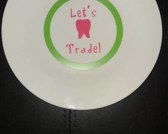 Personalized Tooth Fairy Plate