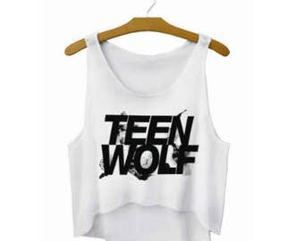 Women's O-neck Teen Wolf Tank Top / Colors White and Black, White and Colorful / Size S M L / FREE Shipping
