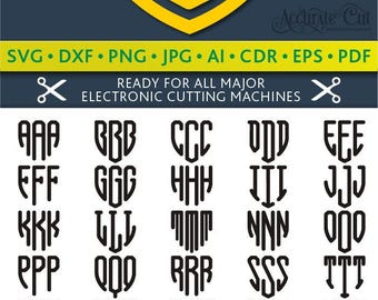 Shield Monogram Svg Shield Monogram Font Svg Shield Font Svg Shield Alphabet Silhouette Studio Cricut Svg Dxf Jpg Png Eps Pdf Ai Cdr
