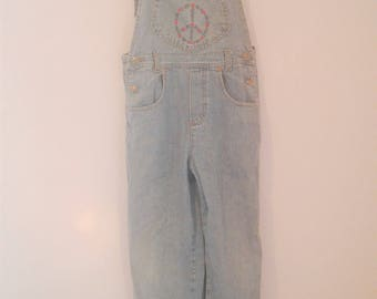 Peace Denim Overalls Size 28