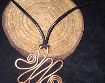 Abstract Copper Pendant