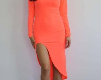 Coral Reef Bodycon Midi Dress