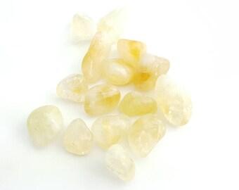 Natural Citrine Tumbled Stone Crystal Mineral Specimen