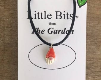 Garden Gnome Necklace Kiln Fired Ceramic