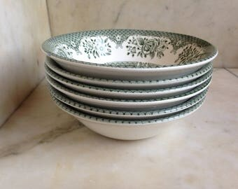 English porcelain plates English Iron Stone, shabby chic
