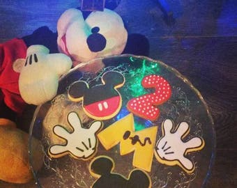 Decorated sand Mickey Mouse