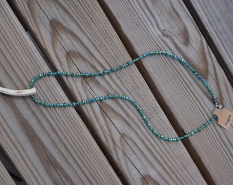 Green Translucent Antler Necklace