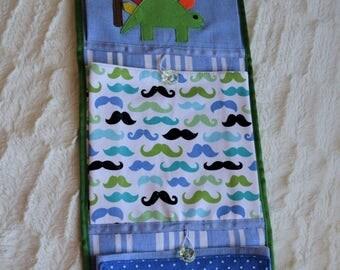 Pocket organizer, childrens cotton decoration, fabric pocket decoration, wall organizer, kid wall decoration, wall pocket
