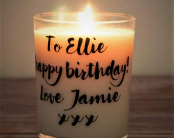 Candles / Personalised Candles / Birthday Gift / Birthday Candle / Personalised Gift / Personalised Birthday Gift / Custom Candle / Birthday