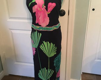 1970's Leonard Paris Halter Dress