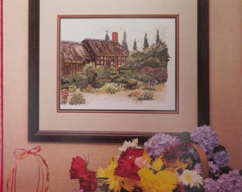 Vintage Cross My Heart Cross Stitch Pattern, The Garden Cottage Pattern