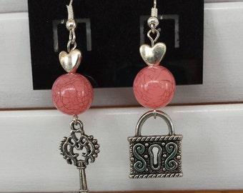 Key & Locket earrings