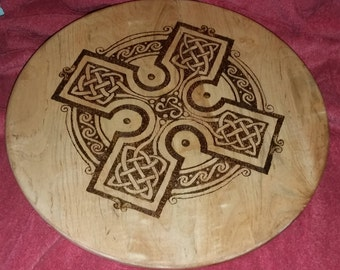 Celtic Cross Lazy Susan