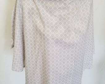 Gray with White Circles Nursing Cover