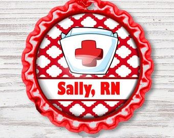Nurse Badge Reel | Nurse Hat Bottle Cap Badge Reel | Nurse Badge Reel | Bottle Cap Retractable Badge Reel | Nurse Badge Reel | CNA Badge
