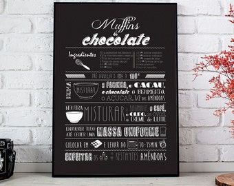 Custom Family Recipe Print, Recipe Art, Mother's Day Gift, Kitchen Gift Art, Printable Gift, Chalkboard Recipe Art, Family Recipe