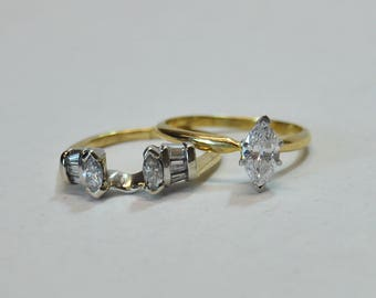 Stunning Marquise Engagement Ring with Guard