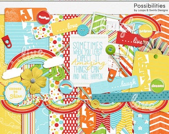 Possibilities Digital Scrapbook Kit - INSTANT DOWNLOAD