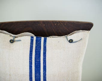 Pillow - Vintage striped grainsack